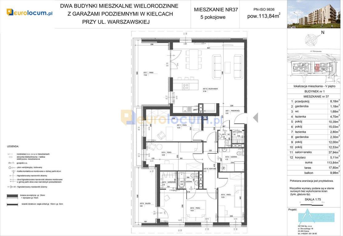 Mieszkanie na sprzedaż Kielce, Bocianek, Warszawska  114m2 Foto 5