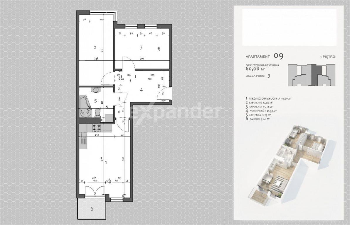 Mieszkanie trzypokojowe na sprzedaż Jaworzno, Ludwika Solskiego  60m2 Foto 6