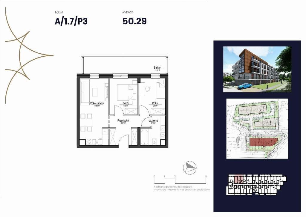 Mieszkanie trzypokojowe na sprzedaż Pruszcz Gdański  50m2 Foto 1