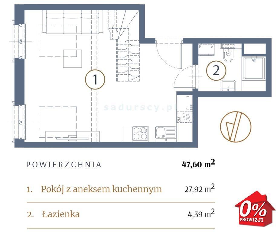 Mieszkanie dwupokojowe na sprzedaż Kraków, Stare Miasto, Kleparz, Filipa - okolice  48m2 Foto 4