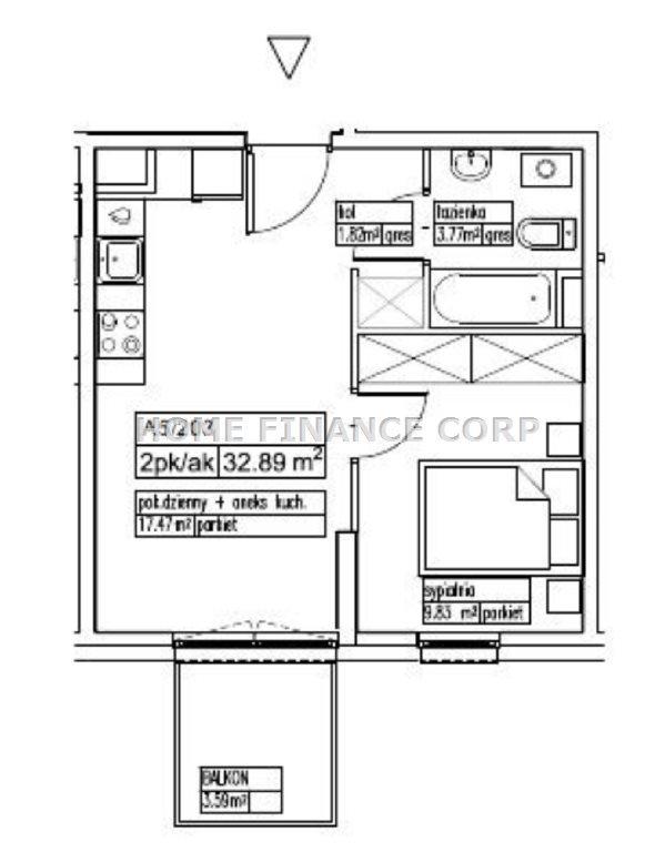 Mieszkanie dwupokojowe na sprzedaż Pruszków  33m2 Foto 2