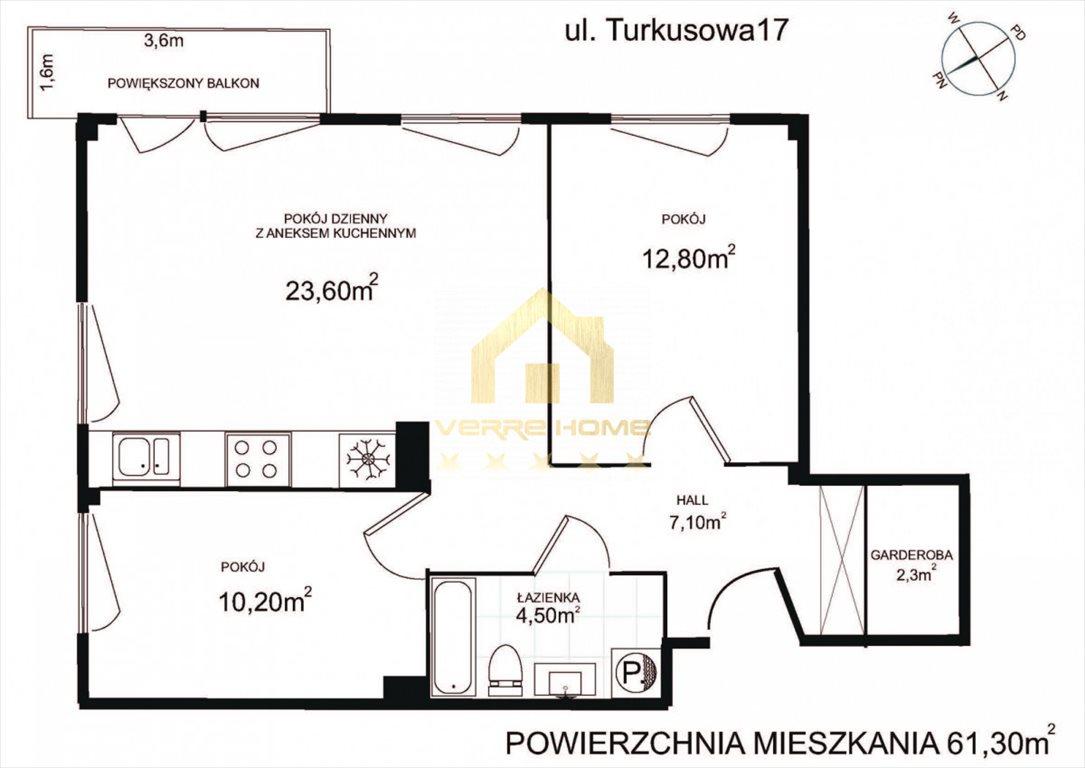 Mieszkanie trzypokojowe na sprzedaż Gdynia, Obłuże, Turkusowa  61m2 Foto 11
