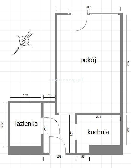 Kawalerka na wynajem Kraków, Nowa Huta, Nowa Huta, os. Tysiąclecia  27m2 Foto 3