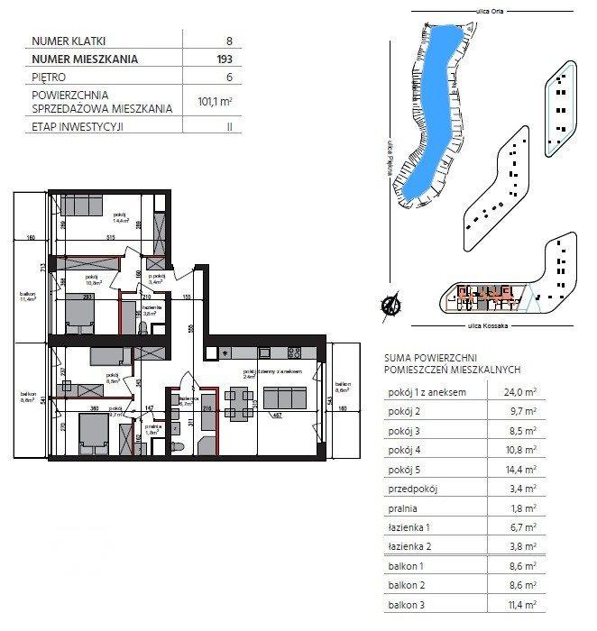 Mieszkanie na sprzedaż Bydgoszcz, Szwederowo, Piękna  101m2 Foto 1
