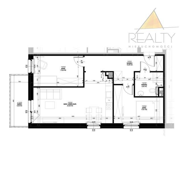 Mieszkanie trzypokojowe na sprzedaż Leszno, os. Ogrody  60m2 Foto 2