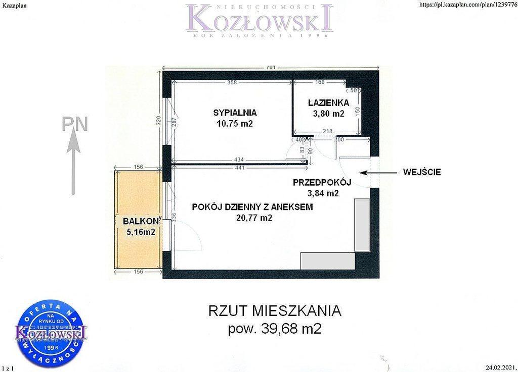 Mieszkanie dwupokojowe na wynajem Gdańsk, Jasień, Lawendowe Wzgórze  40m2 Foto 11