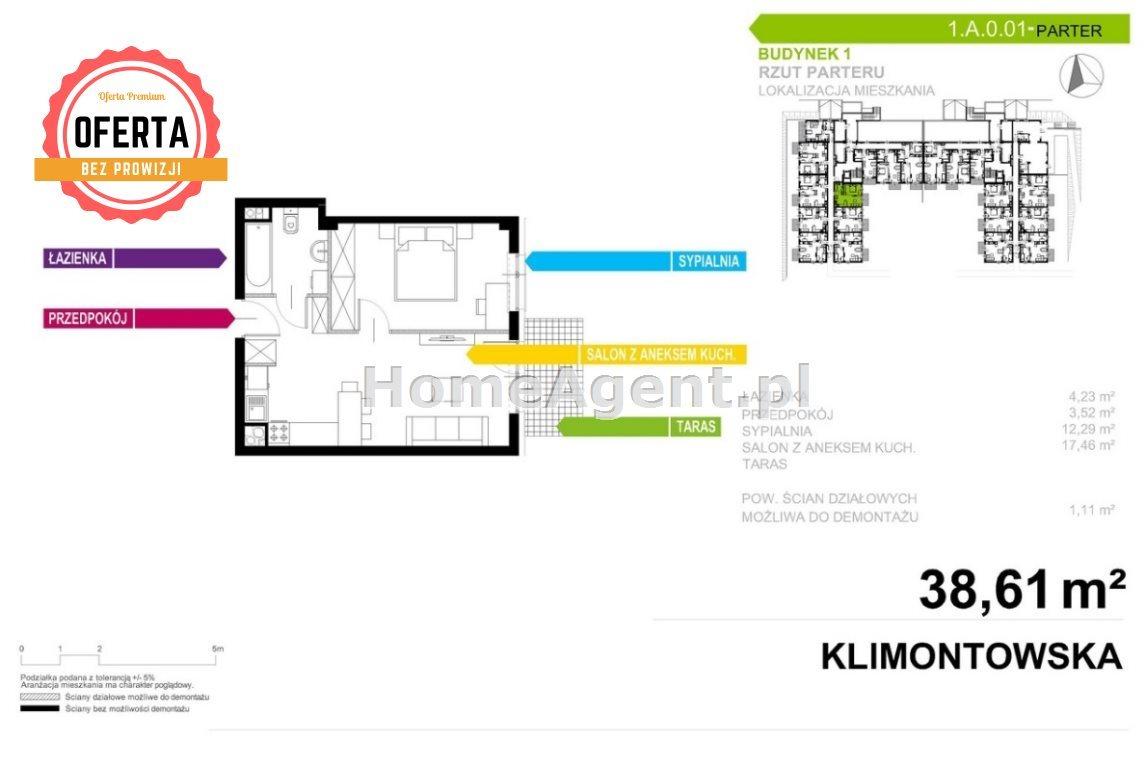 Mieszkanie dwupokojowe na sprzedaż Sosnowiec, Klimontów, Klimontowska  39m2 Foto 9