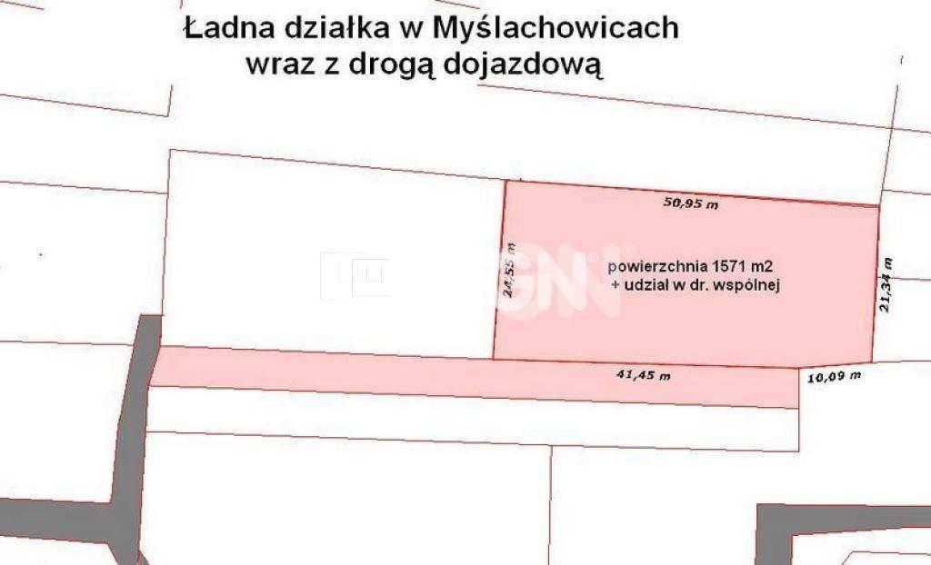 Działka budowlana na sprzedaż Myślachowice, Myślachowice, centrum  1584m2 Foto 2