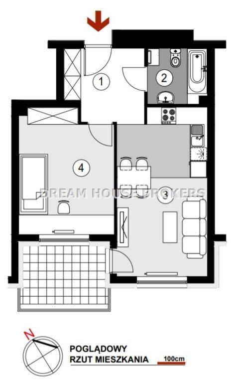 Mieszkanie dwupokojowe na sprzedaż Rzeszów, Staromieście, Lubelska  45m2 Foto 4