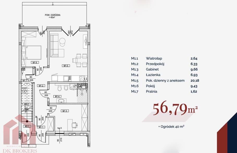 Mieszkanie trzypokojowe na sprzedaż Rzeszów, Miłocin, Myśliwska  57m2 Foto 5