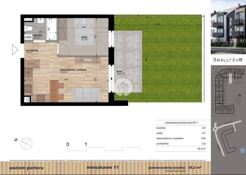 Mieszkanie dwupokojowe na sprzedaż Bydgoszcz, Siedlecka  36m2 Foto 2