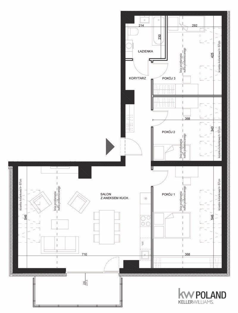 Mieszkanie czteropokojowe  na sprzedaż Poznań, Strzeszyn, Żołnierzy Wyklętych  75m2 Foto 7
