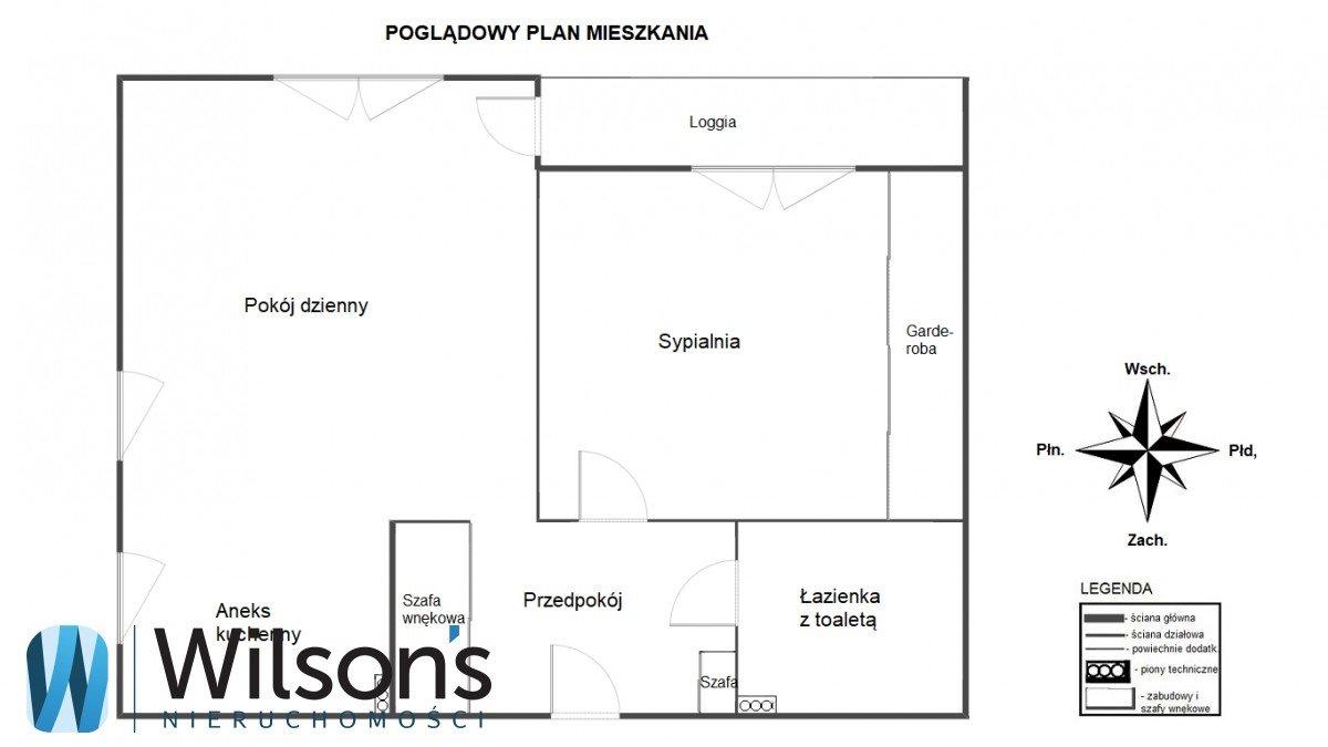 Mieszkanie dwupokojowe na wynajem Warszawa, Praga-Południe Gocław, gen. Tadeusza Bora-Komorowskiego  48m2 Foto 2