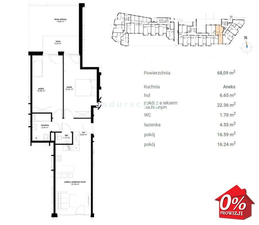 Mieszkanie trzypokojowe na sprzedaż Kraków, Prądnik Czerwony, Olsza, Lublańska - okolice  69m2 Foto 3