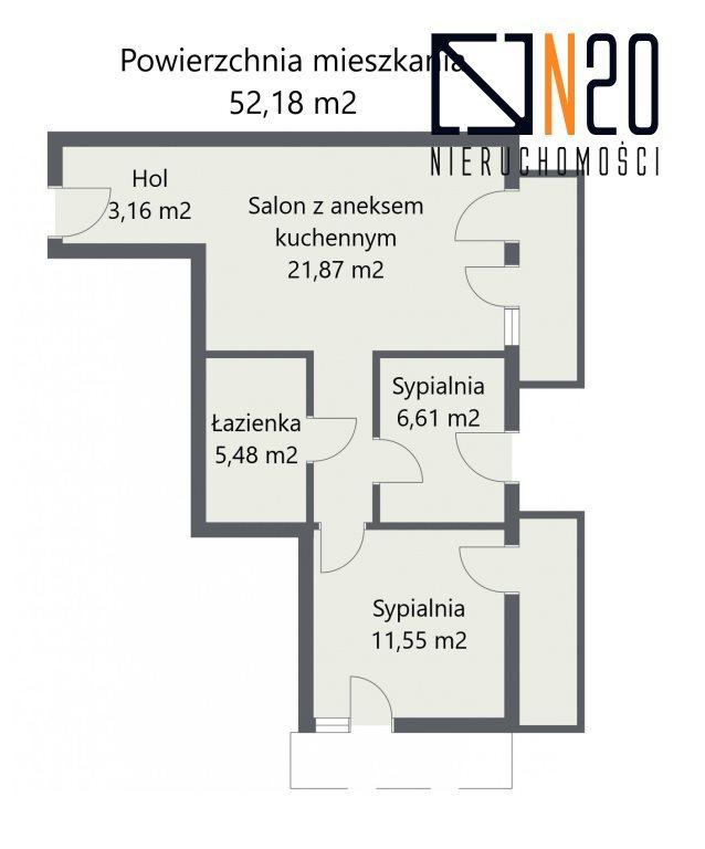 Mieszkanie trzypokojowe na sprzedaż Czarnochowice  52m2 Foto 4
