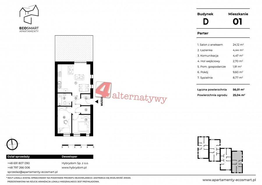 Mieszkanie trzypokojowe na sprzedaż Tarnów, ul. Ekumeniczna  56m2 Foto 9