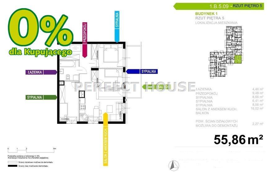 Mieszkanie czteropokojowe  na sprzedaż Poznań, Naramowice  56m2 Foto 12