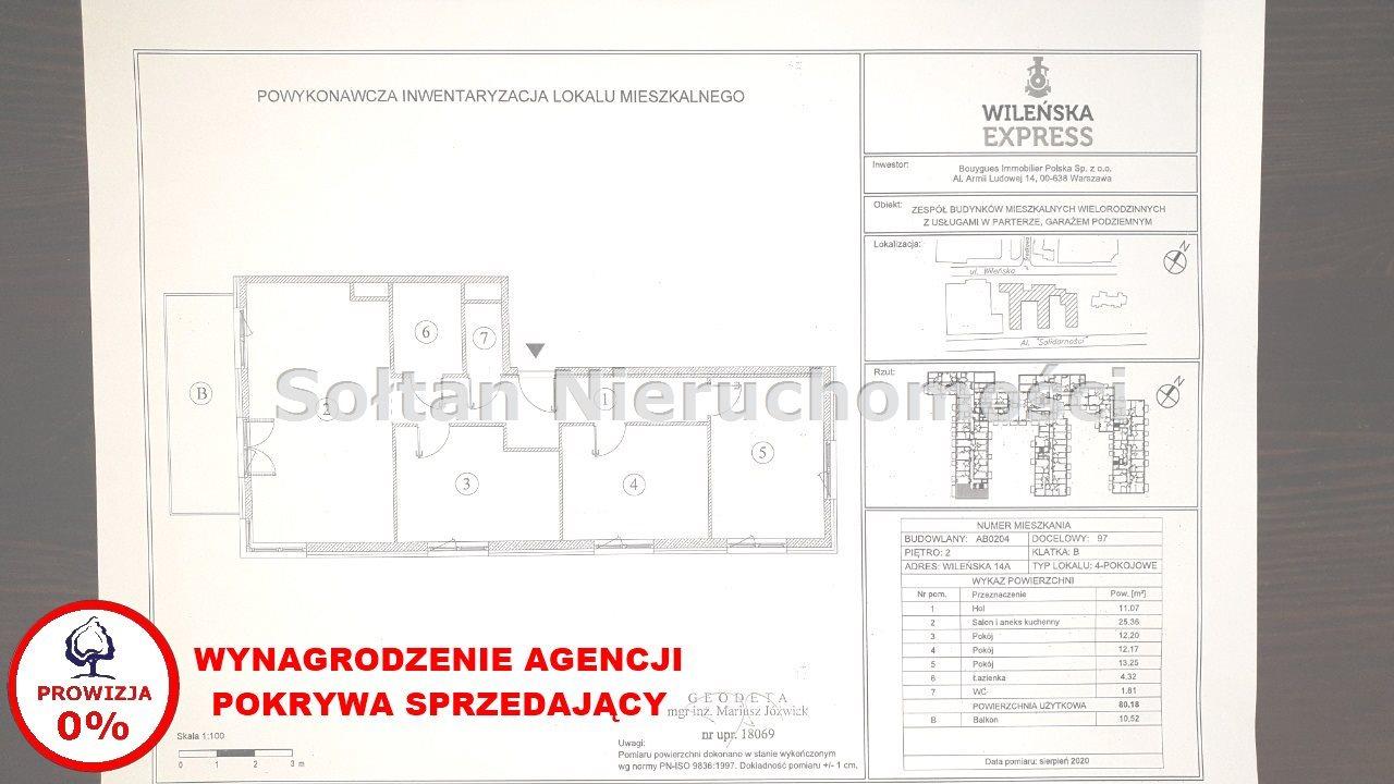 Mieszkanie czteropokojowe  na sprzedaż Warszawa, Praga-Północ, Wileńska  80m2 Foto 3