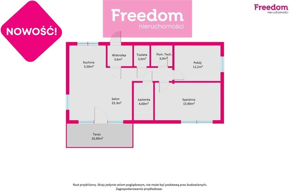 Dom na sprzedaż Tuszyn, Roberta Kocha  89m2 Foto 3