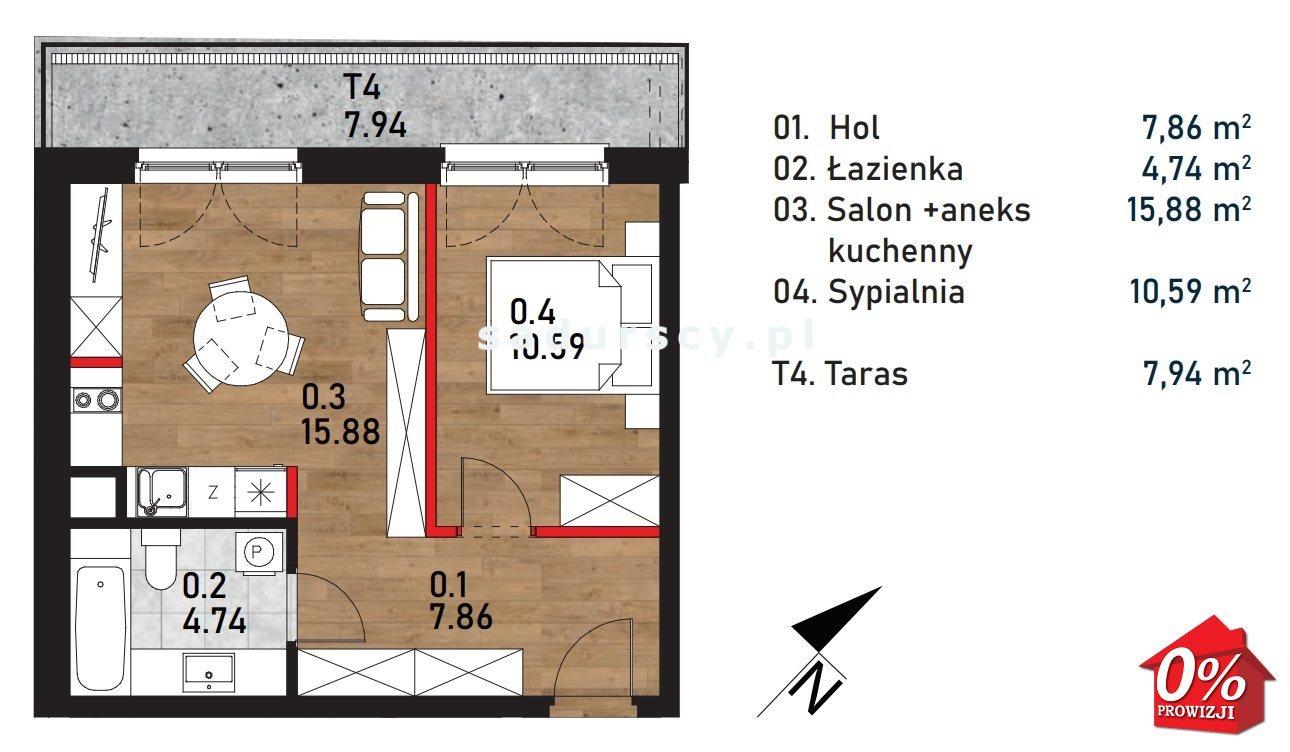 Mieszkanie dwupokojowe na sprzedaż Kraków, Bieżanów-Prokocim, Bieżanów-Prokocim, Wielicka  39m2 Foto 3