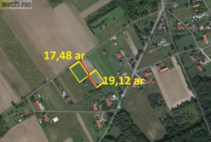Działka budowlana na sprzedaż Miłoradzice  1748m2 Foto 1