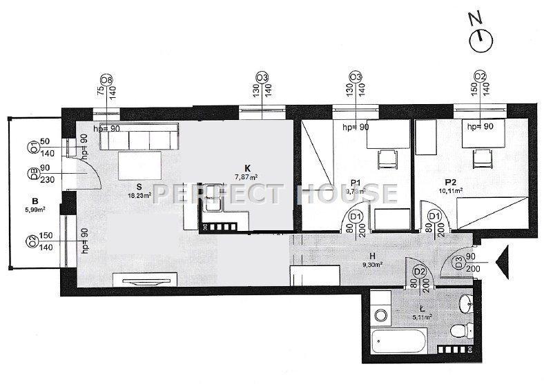 Mieszkanie trzypokojowe na sprzedaż Poznań, Rataje, Milczańska  60m2 Foto 4