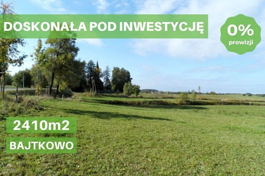 Działka inwestycyjna na sprzedaż Bajtkowo  2410m2 Foto 1