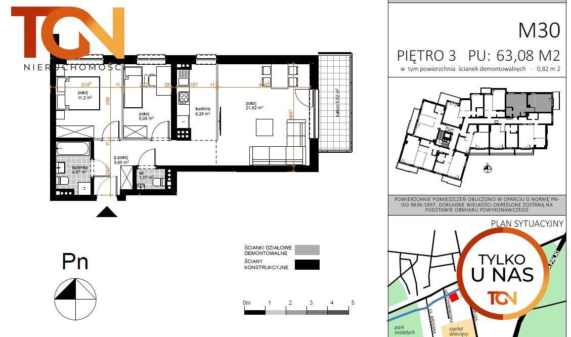 Mieszkanie trzypokojowe na sprzedaż Łódź, Doły, Czeremoska  65m2 Foto 5
