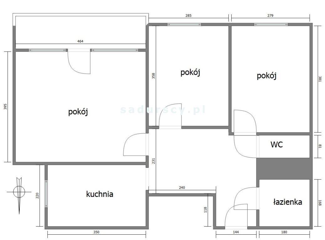 Mieszkanie trzypokojowe na sprzedaż Kraków, Grzegórzki, Grzegórzki, Sądowa  63m2 Foto 4