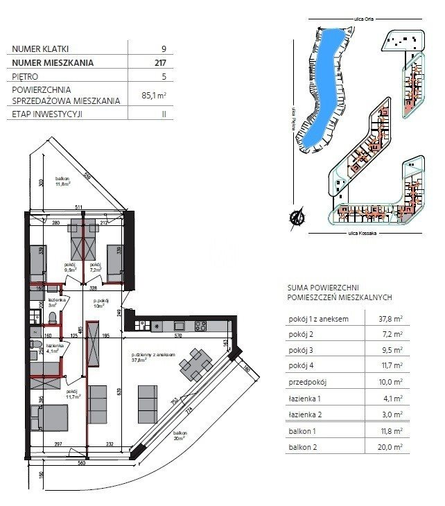 Mieszkanie czteropokojowe  na sprzedaż Bydgoszcz, Górzyskowo, Orla  85m2 Foto 9