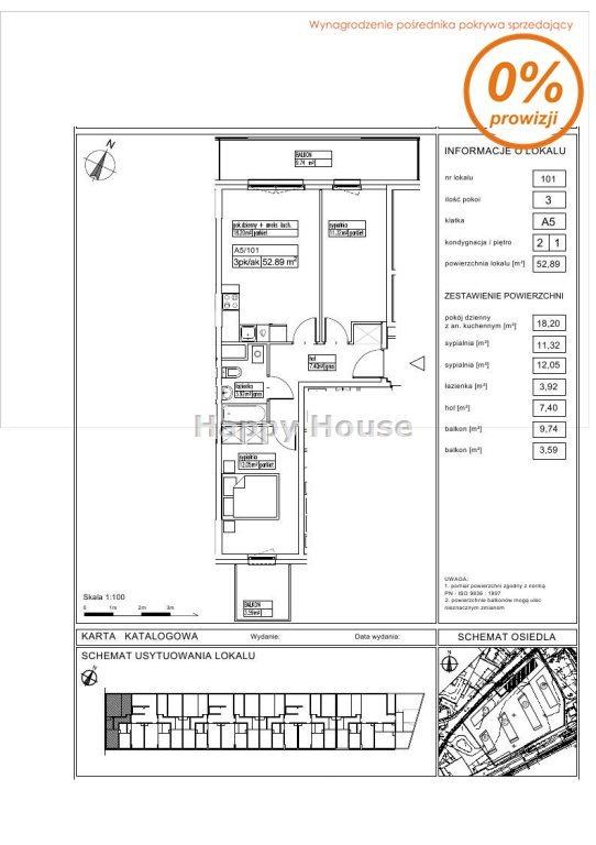 Mieszkanie trzypokojowe na sprzedaż Pruszków, Batalionów Chłopskich  53m2 Foto 1