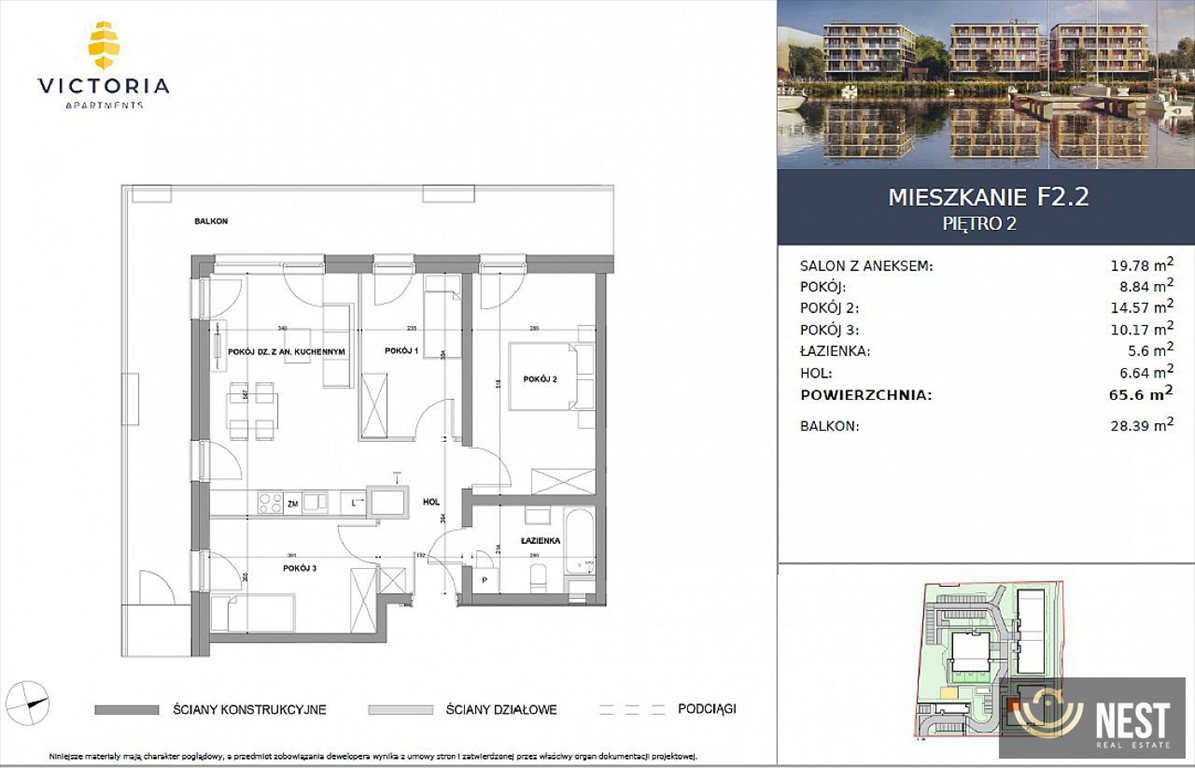 Mieszkanie czteropokojowe  na sprzedaż Szczecin, Prawobrzeże, Przestrzenna  66m2 Foto 6