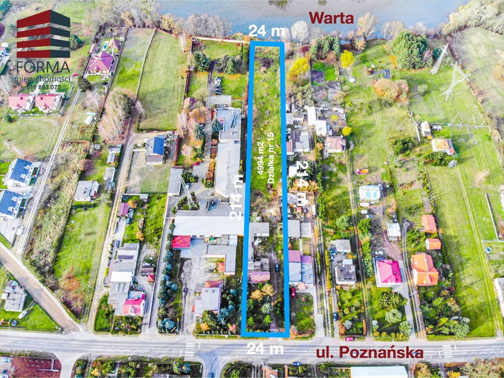 Działka budowlana na sprzedaż Czapury, Poznańska  4994m2 Foto 5