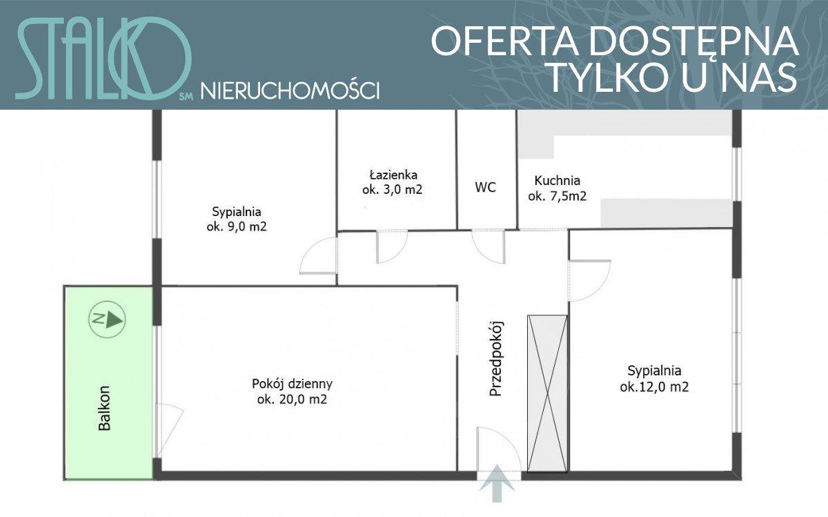 Mieszkanie trzypokojowe na sprzedaż Gdynia, Obłuże, adm. J. Unruga  60m2 Foto 11