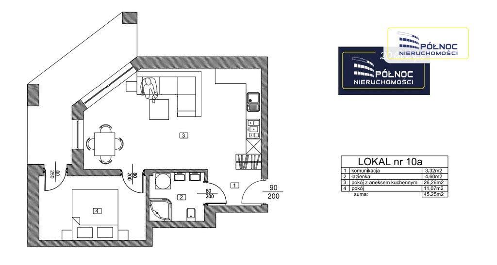 Mieszkanie dwupokojowe na sprzedaż Pabianice, Apartamenty w centrum miasta, stan deweloperski  45m2 Foto 1