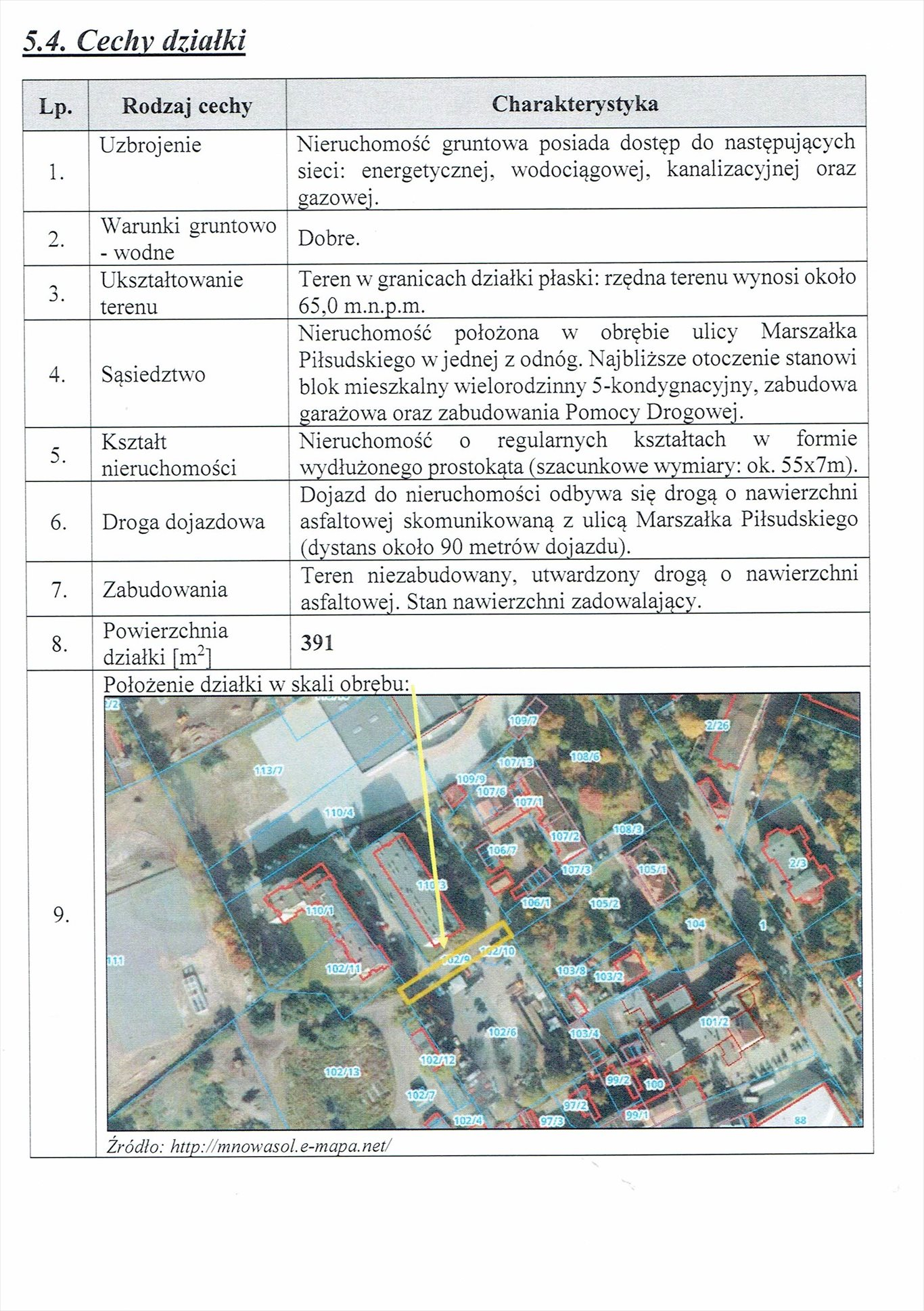 Działka inna na sprzedaż Nowa Sól, Marszałka Józefa Piłsudskiego  391m2 Foto 1