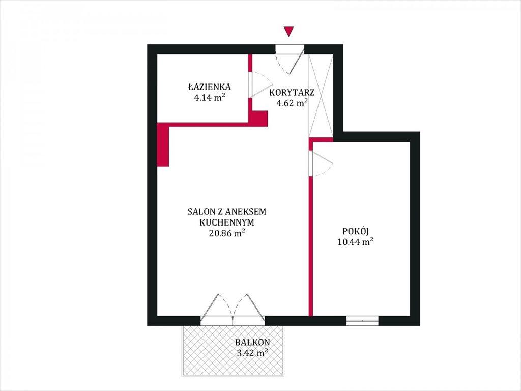 Mieszkanie dwupokojowe na sprzedaż Gdynia, Kacze Buki, Bieszczadzka  40m2 Foto 1
