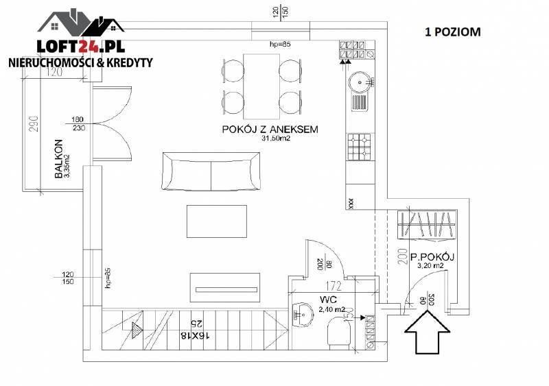 Mieszkanie trzypokojowe na sprzedaż Lubin, os.Kochanowskiego, Kochanowskiego  74m2 Foto 2