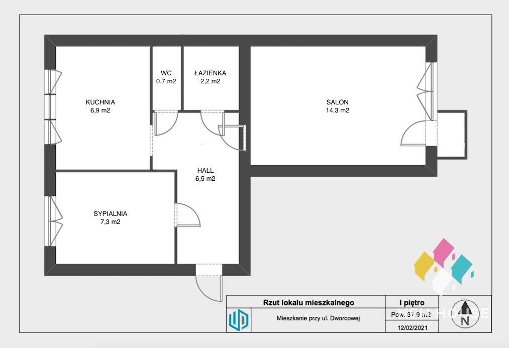 Mieszkanie dwupokojowe na sprzedaż Olsztyn, Kormoran, Dworcowa  38m2 Foto 8
