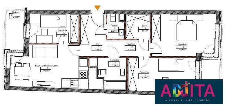 Mieszkanie czteropokojowe  na sprzedaż Warszawa, Mokotów Sadyba, Nałęczowska  77m2 Foto 2