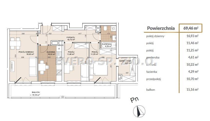 Mieszkanie trzypokojowe na sprzedaż Wrocław, Stare Miasto, Stare Miasto - 3 POKOJE -GARDEROBA - BEZ PROWIZJI  69m2 Foto 3