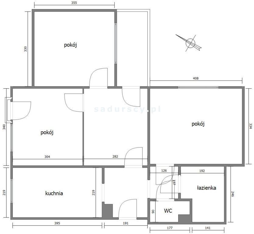 Mieszkanie trzypokojowe na sprzedaż Kraków, Prądnik Czerwony, Olsza, Fertnera  63m2 Foto 3