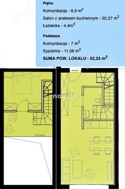 Mieszkanie dwupokojowe na sprzedaż Nowy Targ  52m2 Foto 3
