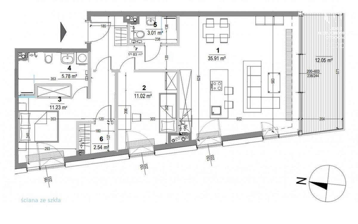 Mieszkanie trzypokojowe na sprzedaż Gdynia, Śródmieście, Arkadiusza Rybickiego  84m2 Foto 6