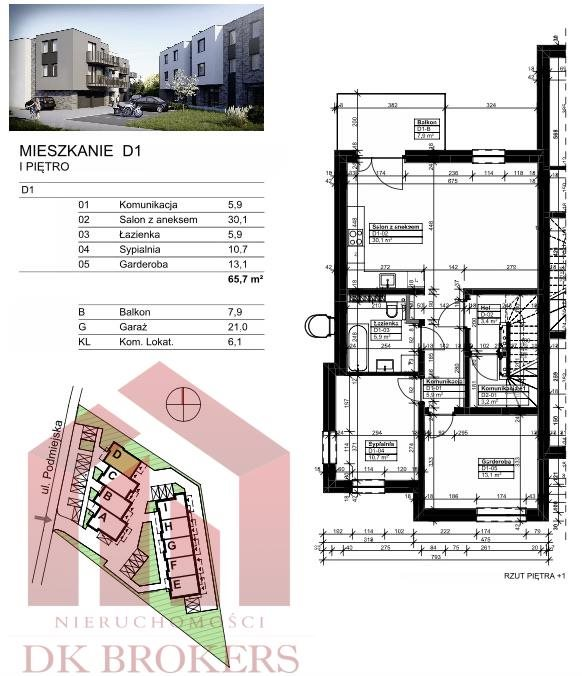 Mieszkanie trzypokojowe na sprzedaż Rzeszów, Drabinianka, Podmiejska  66m2 Foto 7