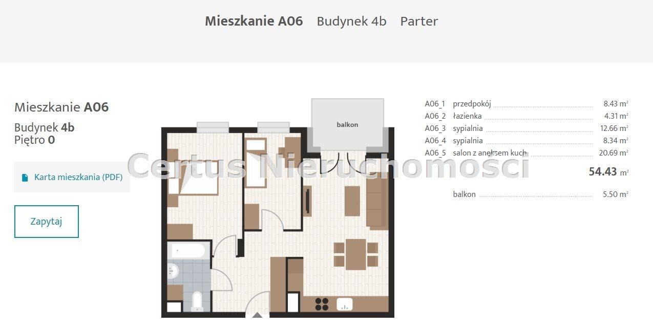 Mieszkanie trzypokojowe na sprzedaż Rzeszów, Baranówka  54m2 Foto 2