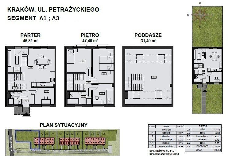 Dom na sprzedaż Kraków, Podgórze, Petrażyckiego  125m2 Foto 9