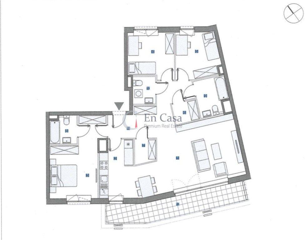 Mieszkanie czteropokojowe  na sprzedaż Warszawa, Mokotów, Komputerowa  119m2 Foto 13