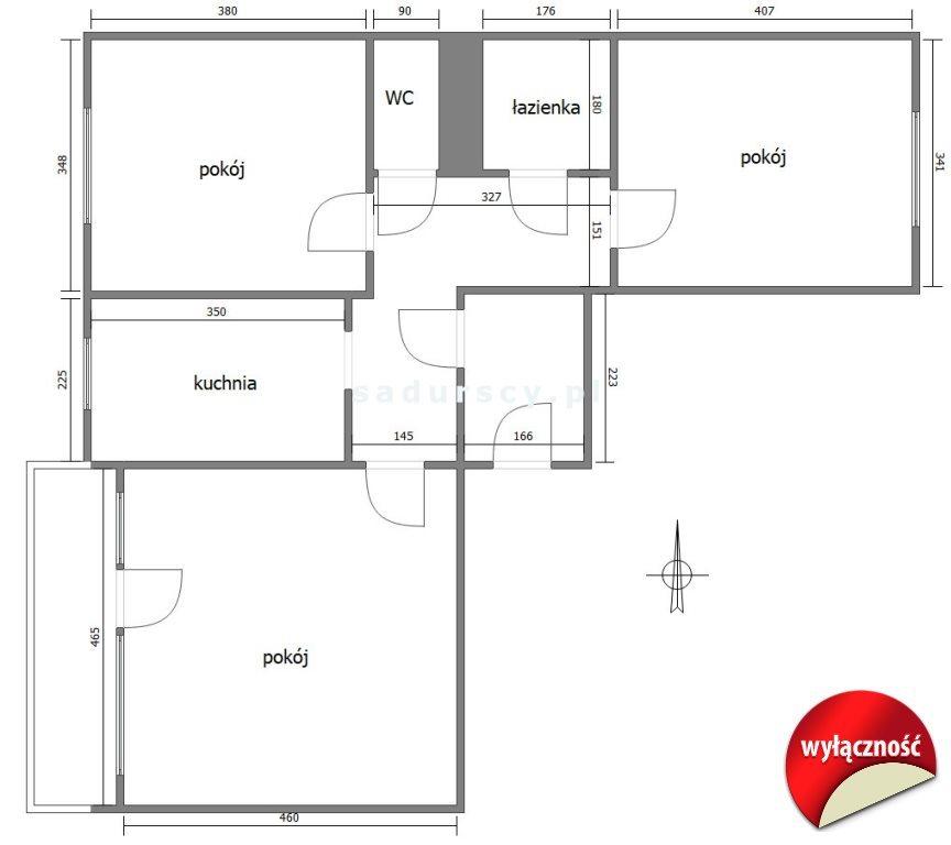 Mieszkanie trzypokojowe na sprzedaż Kraków, Podgórze Duchackie, Kurdwanów, Marii i Bolesława Wysłouchów  75m2 Foto 3