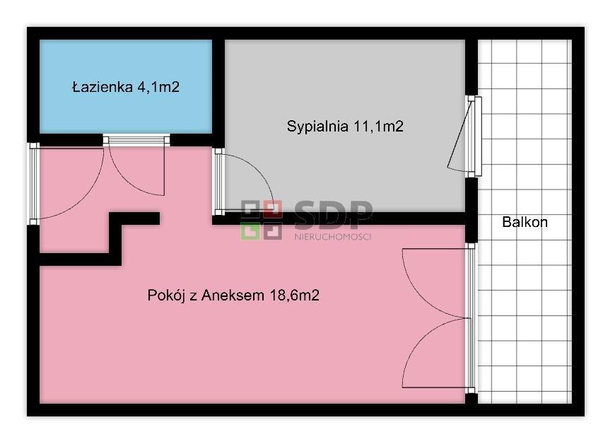 Mieszkanie dwupokojowe na sprzedaż Wrocław, Fabryczna, Oporów  38m2 Foto 2
